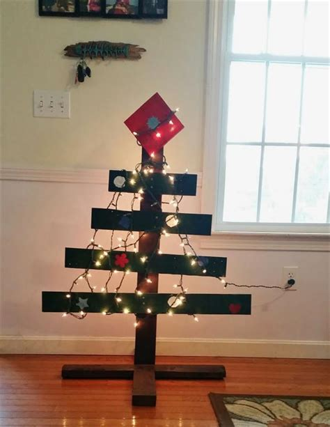 wood tree with lights diy pallet tree with lights concepts pallets