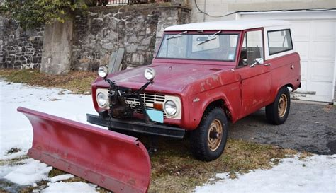 gas station plow  ford bronco