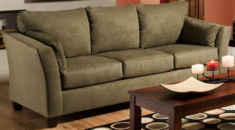 olive couch olive microfiber modern casual sofa loveseat set w