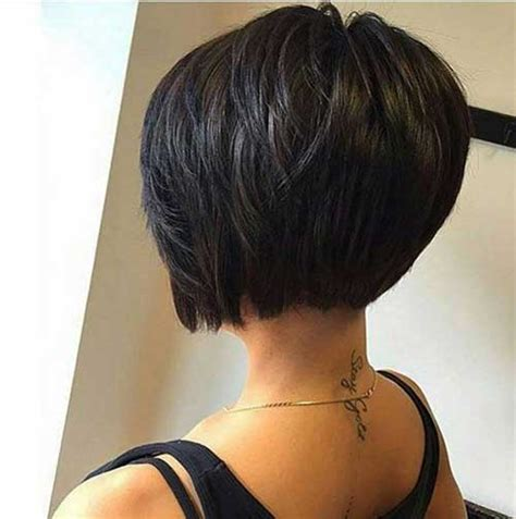 pictures of layered short bob haircuts front and back bob hairstyles back view bob haircuts stacked bob layered