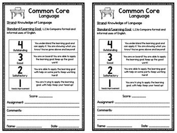 Common Core Rubrics 2nd Grade Ela Amp Math By Christine