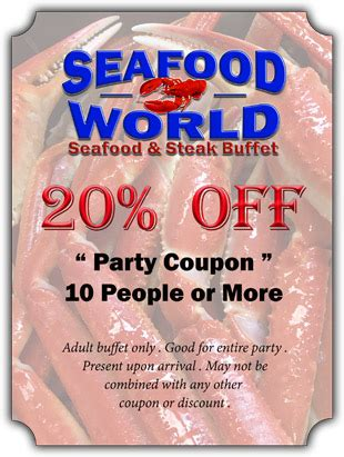 coupons myrtle beach seafood buffet restaurant