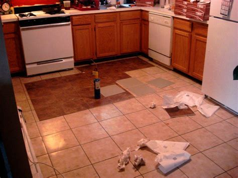 replacing kitchen floor without removing cabinets how to replace kitchen tile floor tile design ideas
