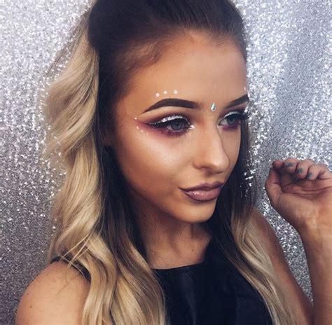 ideas  festival makeup glitter  pinterest