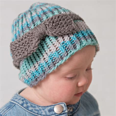 loom knit baby hat loom knit baby or toddler bow hat boye and simplicity