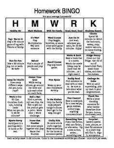 The Dreaded Creative Spell by Differentiate To Simplify Homework Homework Bingo