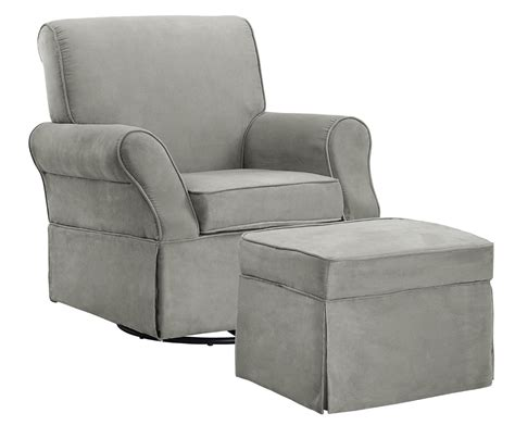 baby chair and ottoman baby relax the kelcie nursery swivel glider chair and