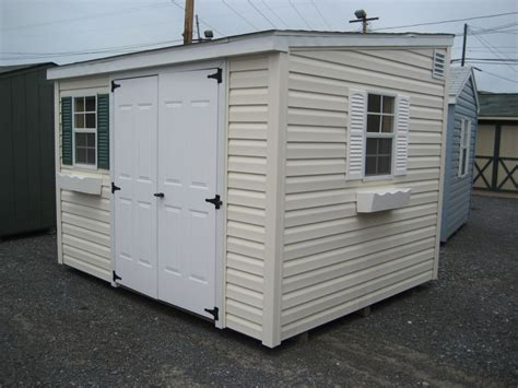 8x10 Plastic Shed by 8x10 Vinyl Lean To Storage Shed 4 Outdoor