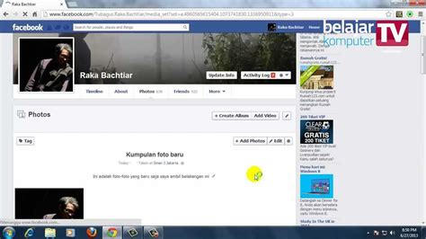 Youtube Membuat Facebook | membuat album foto di facebook youtube