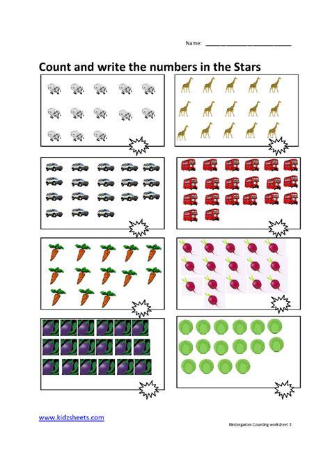Counting Practice Worksheet by Math Counting Worksheets For Kindergarten Kindergarten
