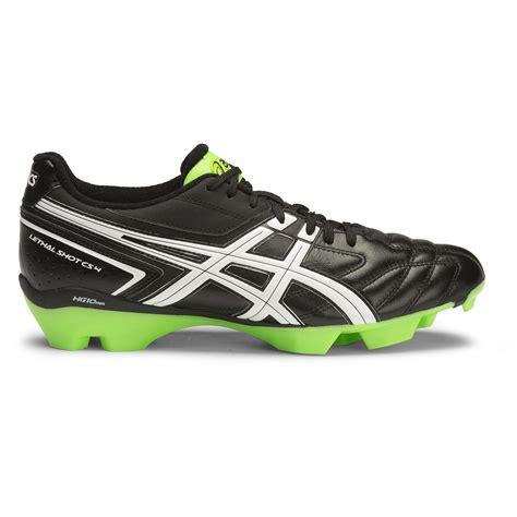 football shoes shop asics lethal cs 4 mens football boots black white
