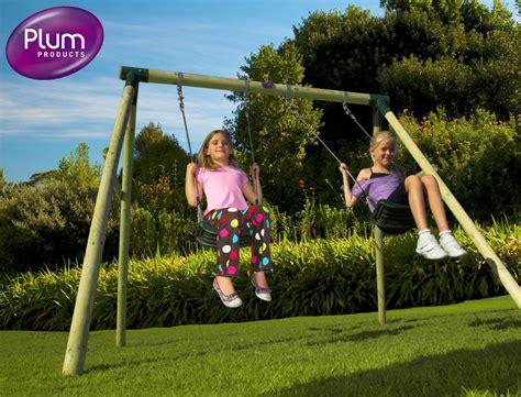 children swing set wooden swing sets for kids