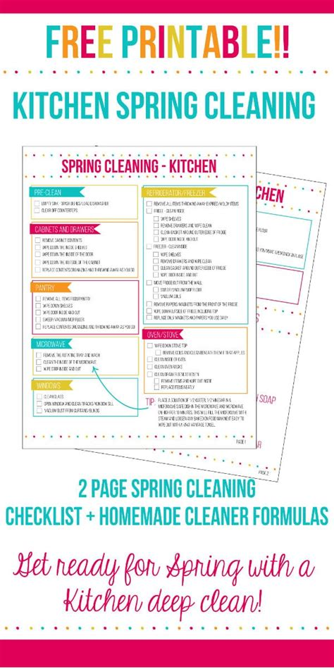 cleaning your kitchen kitchen cleaning checklist home made interest