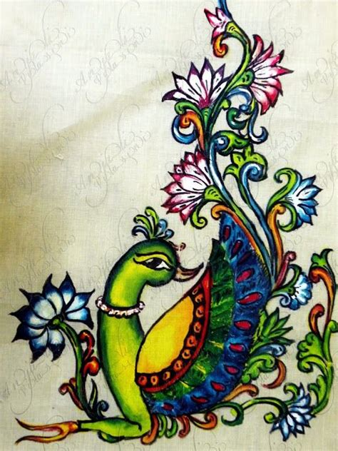 kerala mural painted saree simple craft ideas