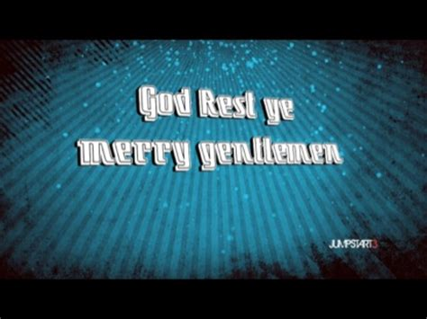 oh tidings of comfort and joy lyrics god rest ye merry gentlemen video worship song track with