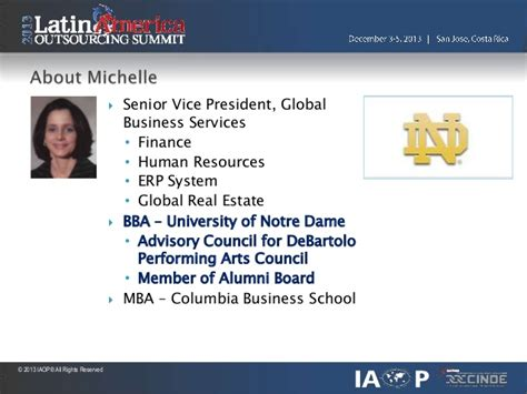 Notre Dame Mba Real Estate by Iaop 2013 Costa Rica End To End Finance Outsourcing V F