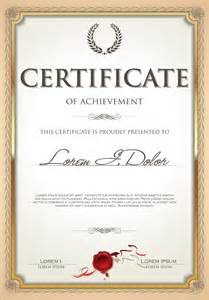 certificate template psd exquisite certificate frames with template vector 04