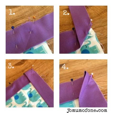 How To Bind A Quilt Corner by Sew We Quilt Rachael Edwards