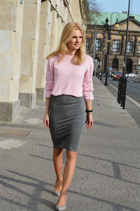 the pink and grey look nice with the paint color eden s business casual for women with feminine look 2018