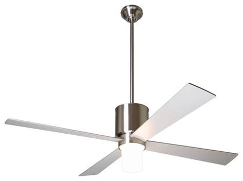 contemporary ceiling fan with light 52 quot modern fan lapa bright nickel with light ceiling fan