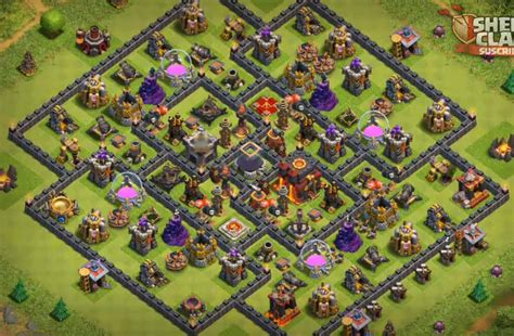 coc village layout th10 top 10 best th10 farming bases 2017 2 bomb tower anti