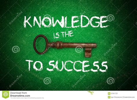 The Key knowledge is the key to success stock image image 27911721
