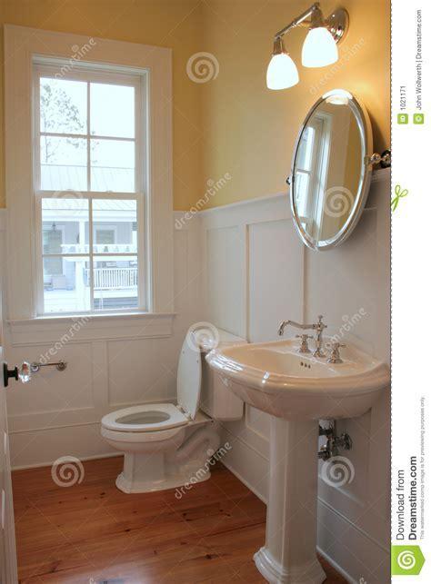 Simple bathroom stock image. Image of plumbing, home