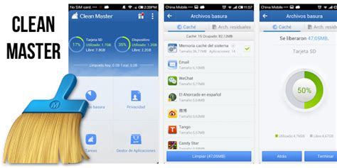 clean master for android cleanmaster liberar memoria en android y optimizar tu smartphone