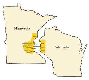 Minnesota Wisconsin Map by Milestone Pool Service Where We Work