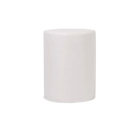 Lounge Cylinder Table, Tall, Atlantis White Vinyl   Arizona Party Rental/SW Events and Rentals Inc