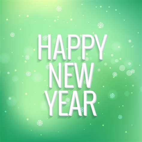 new year green happy new year on green bokeh background vector free