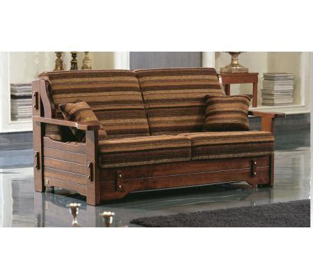 divano letto legno divano letto rustico outlet in tessuto e legno corsica