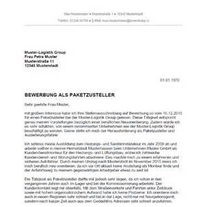 Bewerbung Ferienjob Deutsche Post Bewerbung Als Paketzusteller Paketzustellerin Bewerbung Co