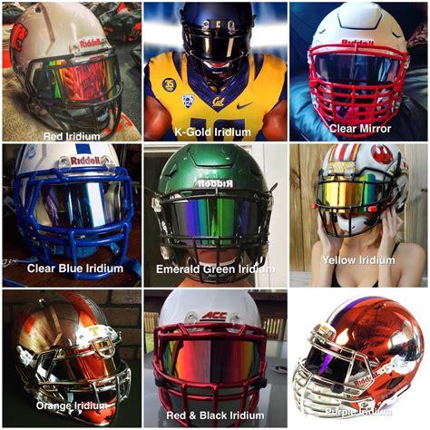 colorful football visors shoc visor 2 0 lightning for football helmets