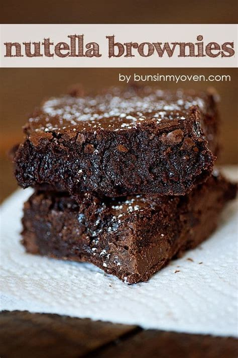 Nutella Brownis nutella brownies recipe dishmaps