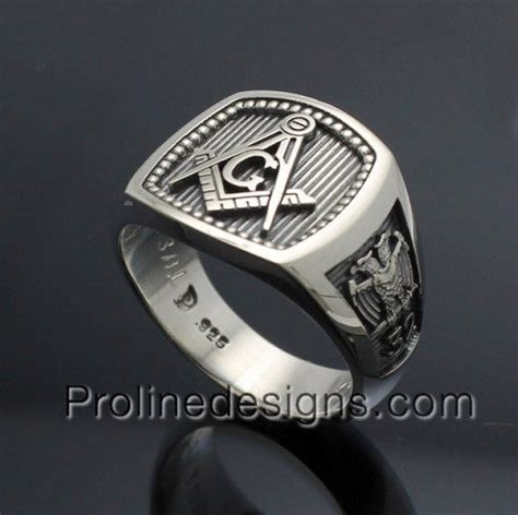 masonic scottish rite ring in sterling silver style 034