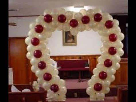 como decorar para bodas de rubi decoraci 243 n de globos para bodas youtube