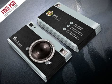 4 side free psd business card templates photography business card template free psd