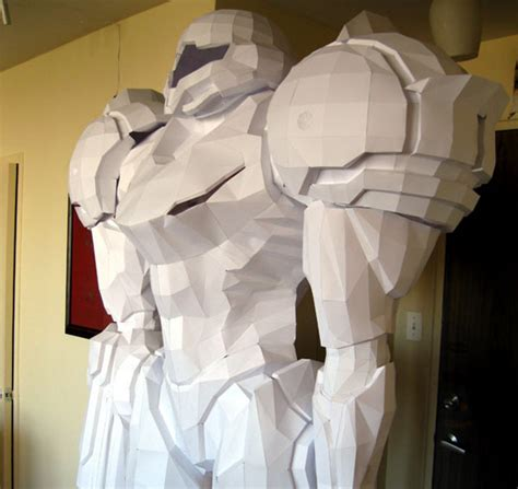 6 10 quot samus aran papercraft sculpture ign boards