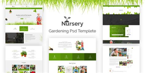 nursery gardening psd template by codecarnival themeforest