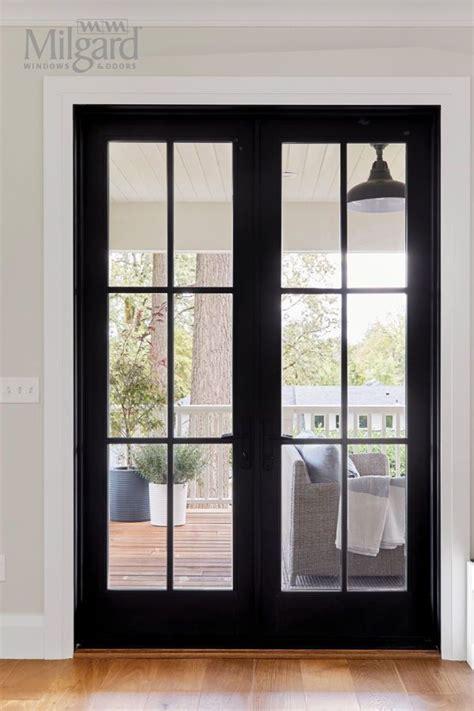 french glass door ideas  black modern
