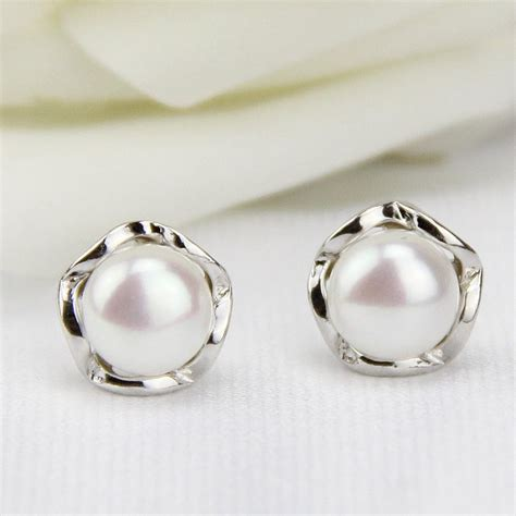 Pearl Earring free shipping jewelry pearl stud earrings pearl earings