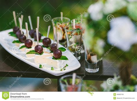 cocktail party photography snacks for cocktail party stock photo image 49582159
