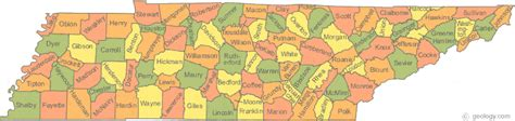 tennessee counties map tennessee state map with counties images