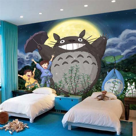 totoro bedroom popular totoro wallpaper buy cheap totoro wallpaper lots