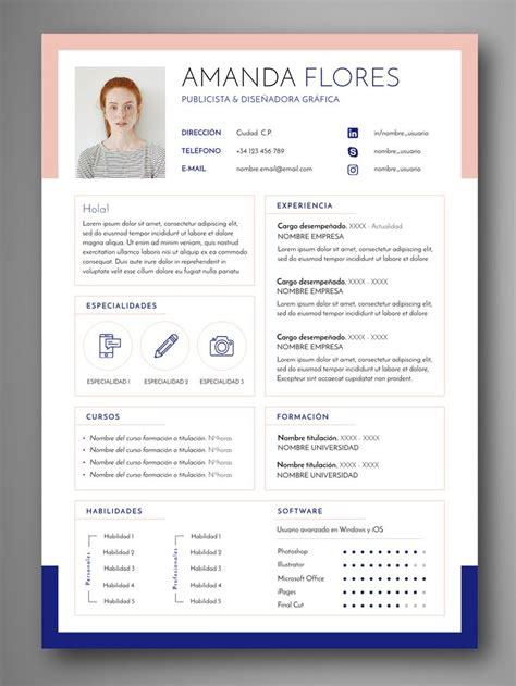 design expert 7 gratis las 25 mejores ideas sobre plantillas curriculum en