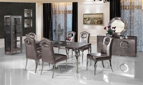 dining room sets 6 chairs stainless steel dinning table with dining room set with 6 chairs leather wine cabinet leather
