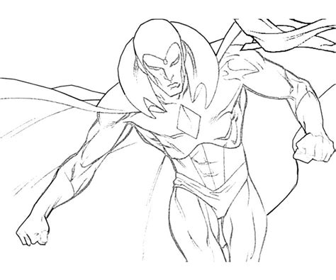 vision marvel coloring pages free coloring pages of vision marvel