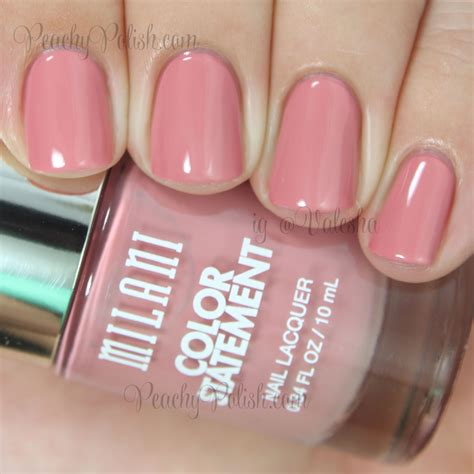 milani color statement nail lacquer collection swatches review part 1 peachy