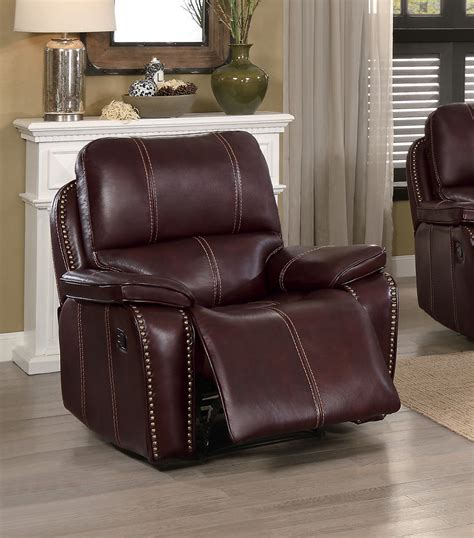 top grain leather reclining sofa homelegance haughton reclining sofa set brown top grain